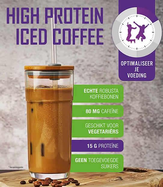 Nieuw! Iced Coffee: eiwitrijke ijskoffie latte zonder suiker